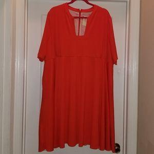 Orange Modcloth Swing Dress